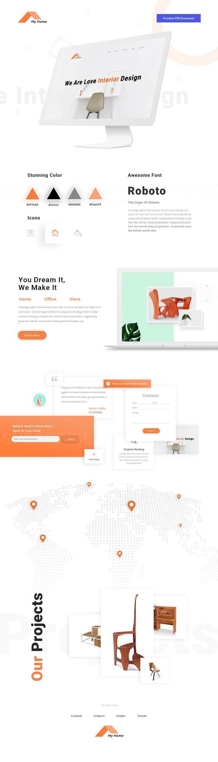 Design Studio Web Template Free PSD