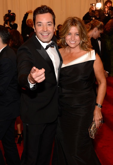 Jimmy Fallon and his wife, Nancy Juvonen, joked around with photographers at the 2013 Met Gala