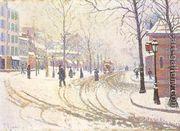 Le Boulevard De Clichy La Neige  by Paul Signac