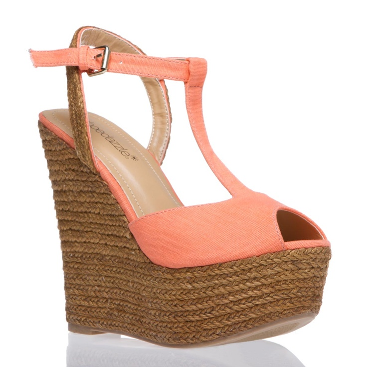 Want these!Summer Dresses, Style, Summer Shoes, Peaches Shoes, Peaches Wedges, Wedges Sandals, Coral Wedges, Summer Wedges, Summer Time