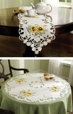 #93244 Sunflower Decorative Table Linens-RUNNER by sensationaltreasures