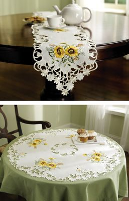 #93244 Sunflower Decorative Table Linens-RUNNER by sensationaltreasures