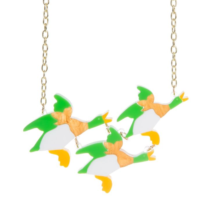 Sugar & Vice Flying Ducks Necklace