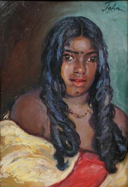Augustus Edwin John - Portrait of a Hindu