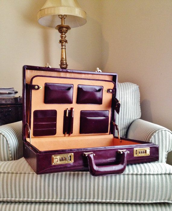 Burgundy briefcase. Hopefully, someday I will get a job and start carrying one like this.