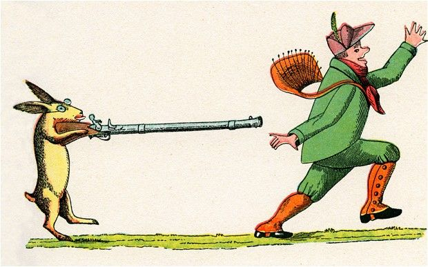 The 10 most shocking books for children (Telegraph): The Story of the Wild Huntsman from Struwwelpeter by Heinrich Hoffmann