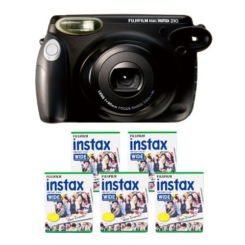 Fujifilm Instax 210 Instant Photo Camera Kit With 5 Twin Pack Of Instax Film, 2015 Amazon Top Rated Film Photography #Photography