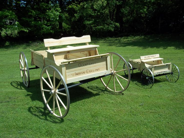 Large & small Olentangy Indian caverns wagons by www.wmconstr,com www.facebook.com/haywagon