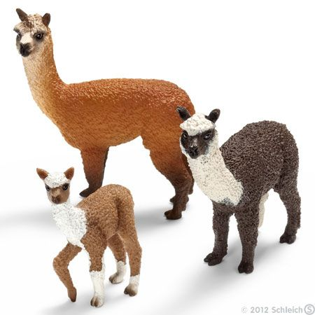 Alpacas! Detailed, realistic animals and more from Schleich toys.