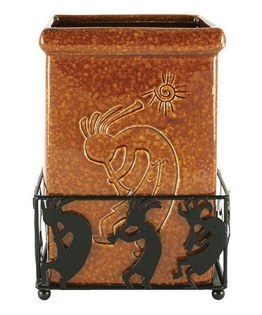 Another great find on #zulily! Kokopelli Trash Can & Holder by Lazart #zulilyfinds