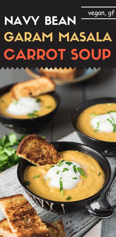 Navy Bean Garam Masala Carrot Soup