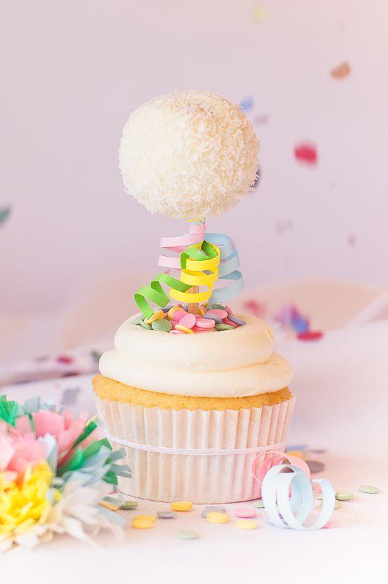 Cupcakes de confeti de colores - Megasilvita