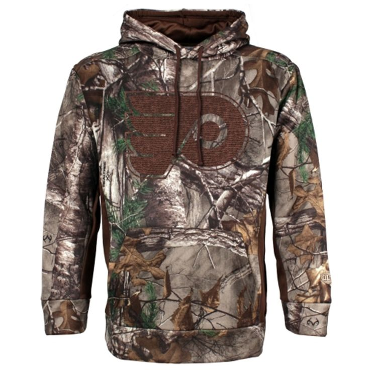 Hubby's Christmas present - Philadelphia Flyers Old Time Hockey Realtree Hackett Pullover Hoodie – Camo
