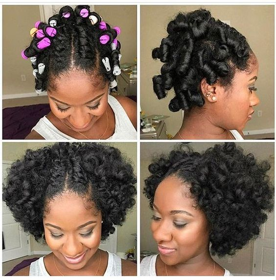 11 Bomb Perm Rod Set On Natural Hair Pictorials Photos In 2020 Hair Styles Short Natural Hair Styles Natural Hairstyles Photos