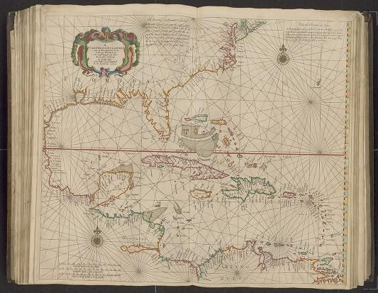 Page 26 Zee-atlas; Colom, Arnold 1656?  Albert and Shirley Small Special Collections Library, University of Virginia.  http://search.lib.virginia.edu/catalog/uva-lib:2287415/view#openLayer/uva-lib:2380027/6595/8525/2/1/0