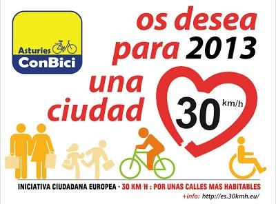 Asturias os desea ciudad 30