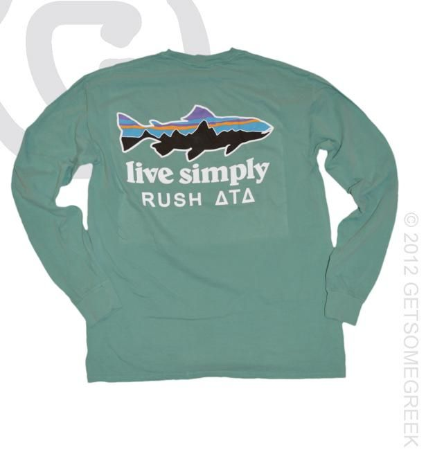 Delta tau delta patagoia style long sleeve comfort colors for Frat pocket t shirts