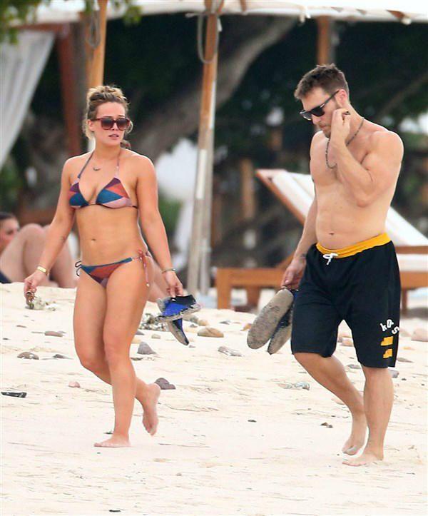Hilary Duff bikini - Celebrity beach cruising 2016