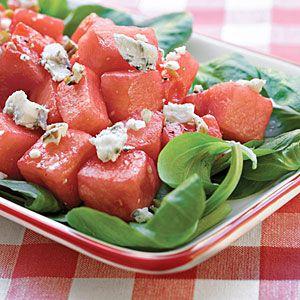 Watermelon, Mâché and Pecan salad