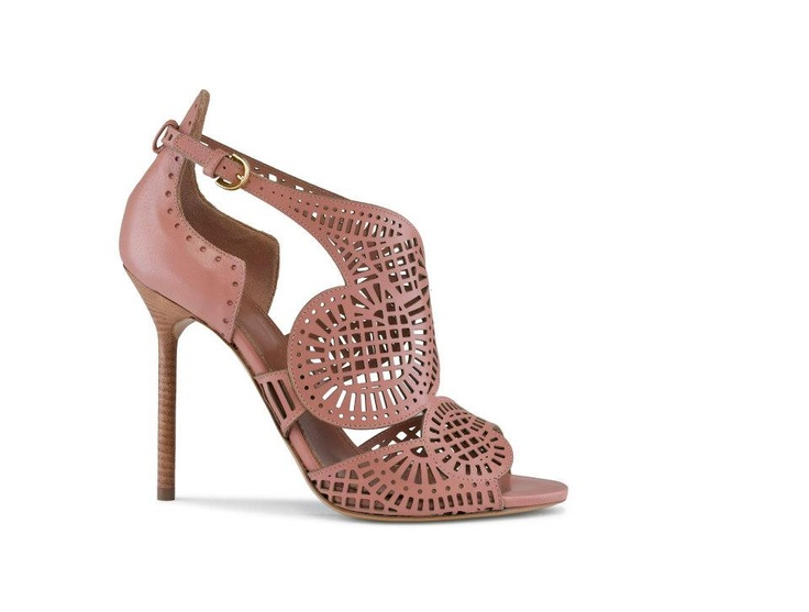 Sergio Rossi Sequined Cutout Sandals