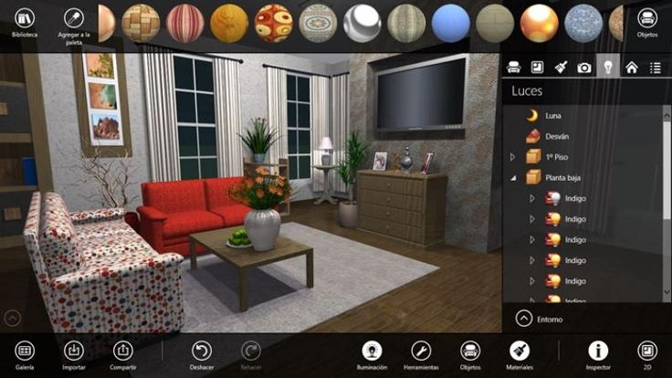 Live interior 3D free es un potente software gratuito, compatible con Windows 8 y 8.1, para diseño de planos de plantas y decoración de interiores.