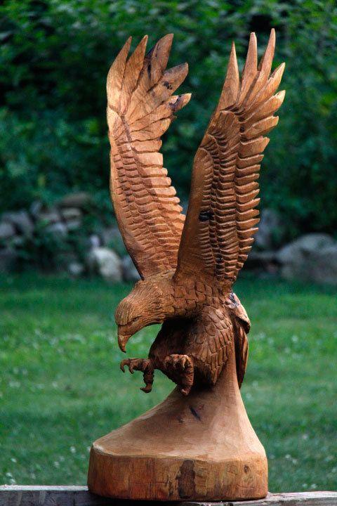 Lifesize soaring eagle by customwoodcarvings on etsy