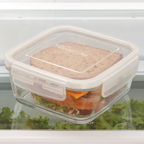 3-cup Leakproof Glass Container, Chef's Tip: Know the 2:4 rule with leftovers. Store it within 2 hours and eat within 4 days.  (The Pampered Chef  facebook)