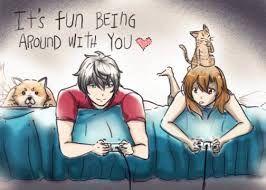 Bildergebnis für anime gamer couple