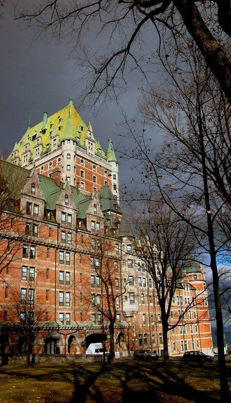 ...Chateau Frontenac and beautiful light of autumn, Quebec, Canada | Photo by Gaetan Chevalier...