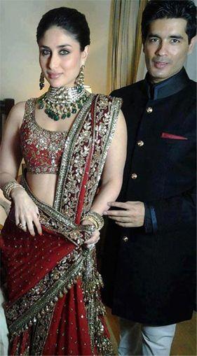 Kareena Kapoor in Manish Malhotra lengha