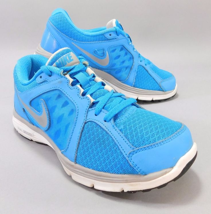 NIKE Dual Fusion Run Neon Blue Running Shoes Womens Size 7.5 Excellent #Nike #Running