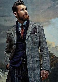 グレーのチェックでできる男の冬コーデ。メンズ向け。クールなショップコートコーデの着こなし。スタイル・ファッションの参考