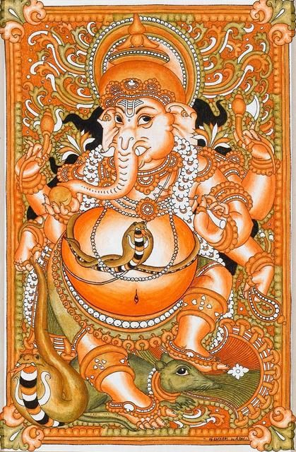 165 best images about ganesh on pinterest hindus wisdom for Mural art of ganesha