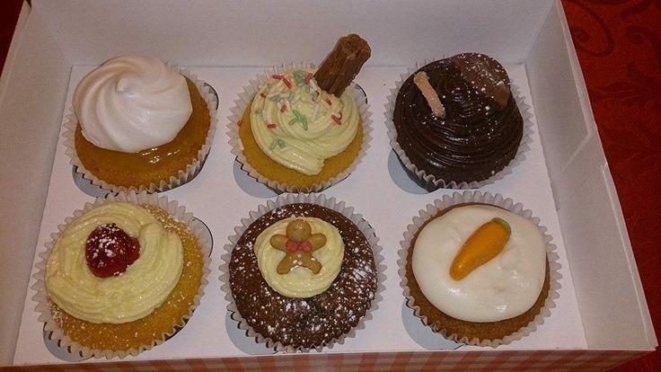 Flavoured cupcakes - lemon meringue, vanilla 99 ice cream, chocolate orange, cherry bakewell, gingerbread, carrot cake