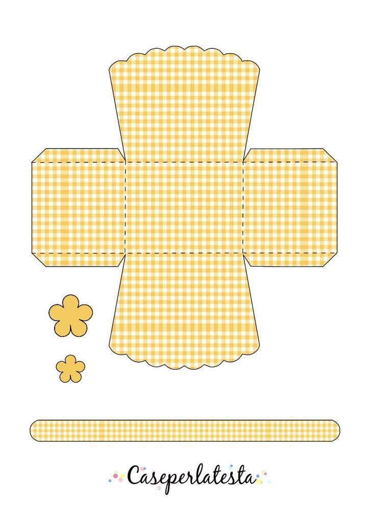 Cestino di Pasqua in carta  da stampare* Printable Easter basket