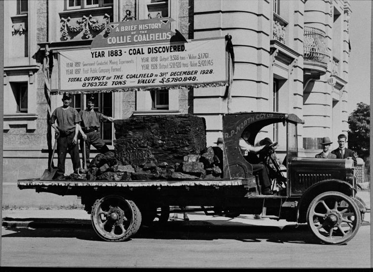 024713PD: May Day parade float displaying a brief history of the Collie Coalfields, 1929 https://encore.slwa.wa.gov.au/iii/encore/record/C__Rb3507680