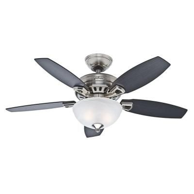 I like the darker blade color    Hunter Holden 44 in. Brushed Nickel Ceiling Fan-51065 - The Home Depot