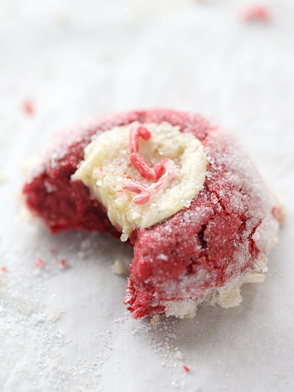 Crushing On Deborah Harroun of Taste and Tell and Red Velvet Cream Cheese Thumbprint Cookies - foodiecrush