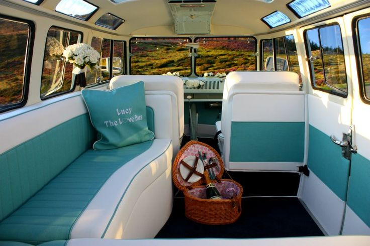 Buy a VW camper.  Love the interior!  A campervan (or camper van), sometimes referred to as a camper, or a caravanette, is a self-propelled vehicle that provides both transport and sleeping accommodation.