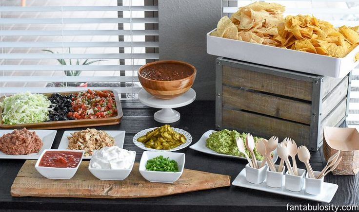 Looking for nacho bar ideas? A full list of the items used, plus everything can be purchased pre-cut or pre-made if necessary!