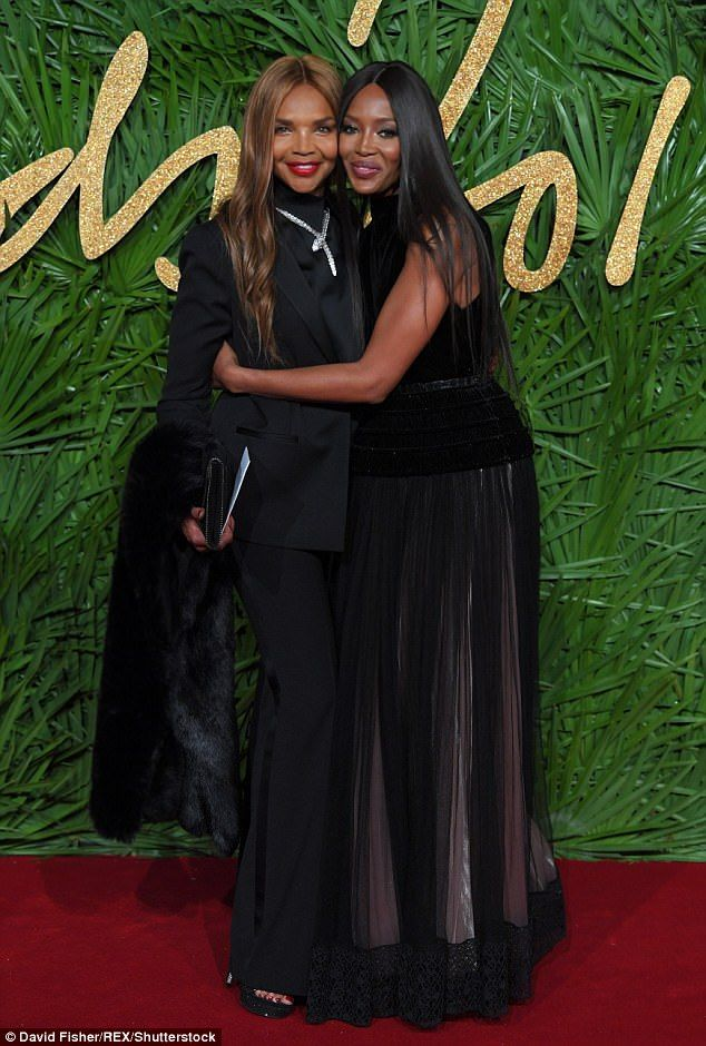 Mum's the word: Naomi Campbell, 47, brought her mum Valerie Morris, 66, as her date to the...