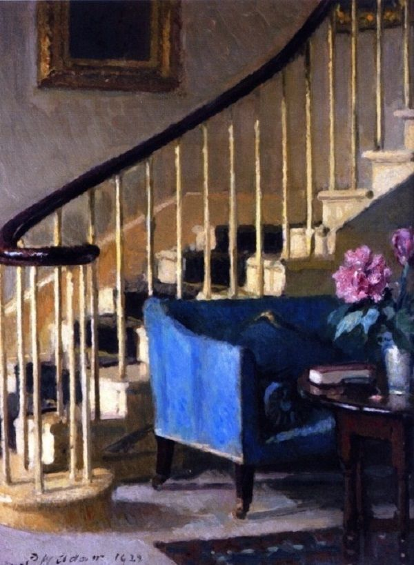 © Patrick William Adam - Interno con divano blu (1929)