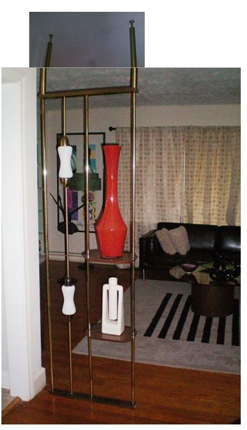 If anyone ever finds a tension-rod room-dividing pole lamp, let me know.