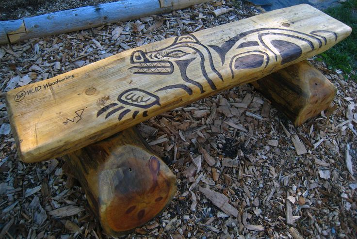 The Bear 1 of 4 benches created for the Medicine Wheel Garden at Heart Lake Conservation Area Toronto and Region Conservation Authority
