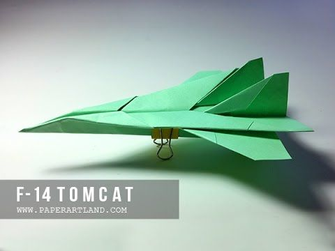 COOL PAPER AIRPLANES - How to Make a Paper plane that flies | F -14 Tomcat - YouTube
