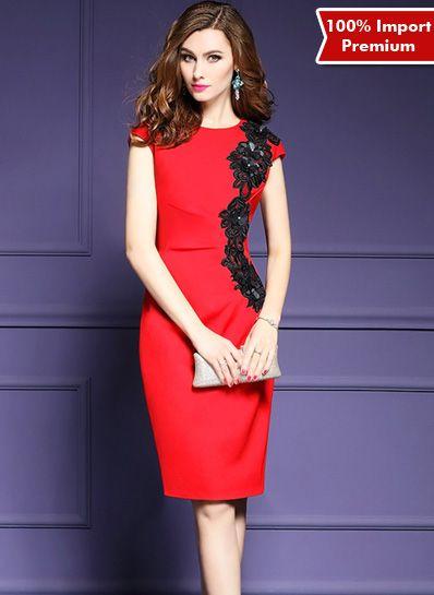 Bodycon / Party Dress Import Premium 609PR  | shopasista.com | Distributor baju import | distributor baju korea | grosir baju korea | grosir baju import | supplier baju korea tangan pertama | importir baju korea