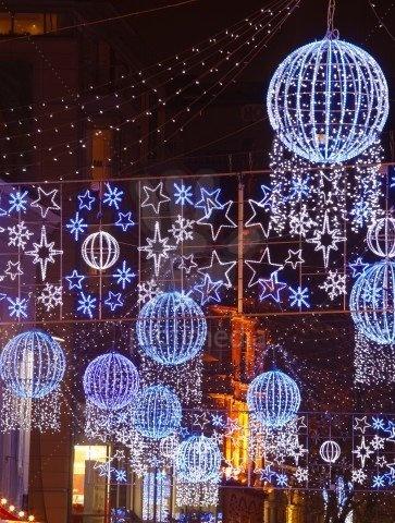 Christmas lights and decorations at  Birmingham Frankfurt