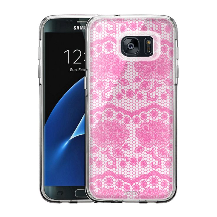 Samsung Galaxy S7 Edge Darling Rose Lace in Orchid Pink Slim Case