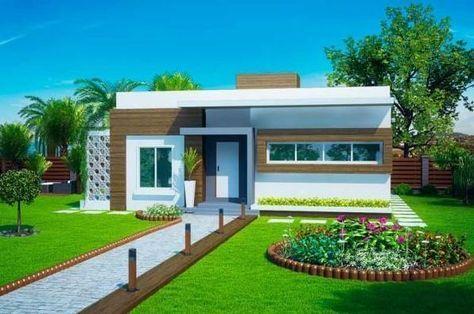 Fachadas de casas pequeñas modernas