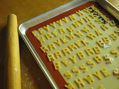 Alphabet Cheese Crackers - perfect snack for the kids!